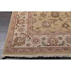 Tara Sumak Beige Wool Rug (9' x 12') - Overstock™ Shopping - Great Deals on 7x9 - 10x14 Rugs