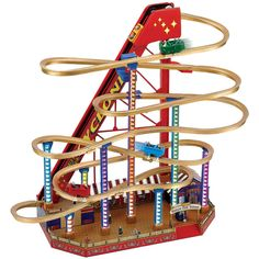 NEW Worlds Fair Grand Roller Coaster - Collectible Toy Plays 25 Carols Or Songs