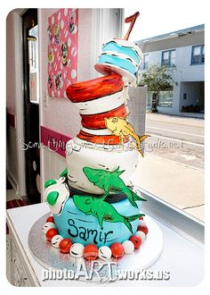 Dr. Seuss 1st birthday by johnniekake, via Flickr