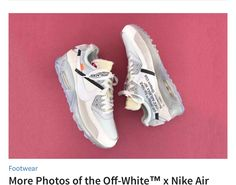 pretty nice 90a46 b1132 Air Max 90, Air Max Sneakers, Sneakers Nike, White Nike Shoes, Nike