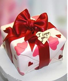 I love you cake, could be any color combination!