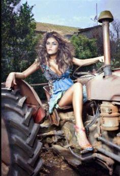 Rezultat imagine pentru Country Girls and Tractors