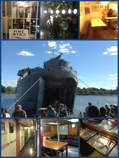 Touring the USS LST325 as part of our study of WWII