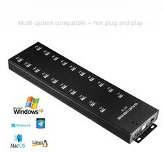 56.00$  Buy here - http://aliwn8.shopchina.info/1/go.php?t=32791241797 - New Design Black 20 Ports LED USB 2.0 Adapter Hub For PC Laptop High Quality  #magazineonline