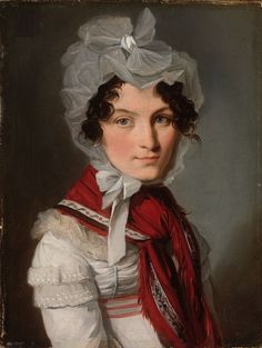 Louis Leopold Boilly [ French 1761-1845 ] HEAD OF A WOMAN