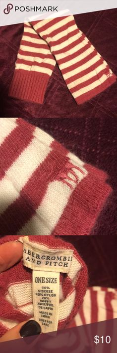 """Abercrombie and Fitch Leg Warmers Pink/mauve and cream striped leg warmers. Leg warmers are one size and have been worn 3-4x. Leg warmers are 19.5"""" long as pictured. Abercrombie & Fitch Accessories Hosiery & Socks"""