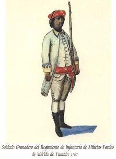 Regimiento de Infantería de Milicias Pardos de Mérida de Yucatán 1767 Granadero