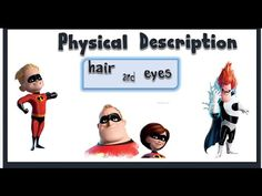 Physical Description (hair and eyes) : English Language