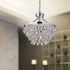 Ivana 5-light Chrome Luxury Crystal Chandelier | Overstock.com Shopping - The Best Deals on Chandeliers & Pendants