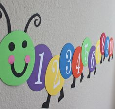 Counting Caterpillar Wall Frieze. So cute!