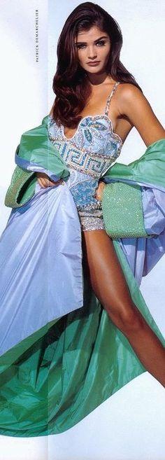 Atelier Versace, Jewel Tones, Vintage Fashion, Pastel, Sari, Blue, Shabby Chic, Saree, Cake