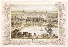 The Garden Palace. Sydney Gardens, Exhibition Building, Historical Images, Town Hall, Palace, Vintage World Maps, Australia, History, City