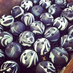 bowling balls are the way to have your cake balls. www.cakeballers.com #thecakeballers #cakeballers #cakeballer #cakeballs #cake #bowlingballs #strike #boise
