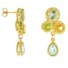 Baumgold earrings: Multi-colored gems set in 14K gold. Price: $550.00