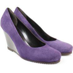 Perfect...Wedge + purple!!!