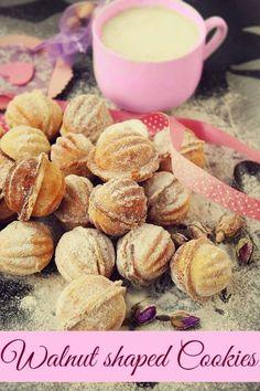 walnut shaped cookies filled with walnut cream