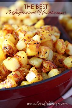 I LOVE hashbrowns! Especially Southern style; hashbrowns, where the potatoes are diced instead of shredded. And my younger brother recently introduced me to a great hashbrown seasoning hack. Now I ca (Breakfast Potatoes) Hash Browns, Best Breakfast, Breakfast Recipes, Breakfast Ideas, Breakfast Potatoes Easy, Breakfast Casserole, Egg Casserole, Breakfast Dishes, Brunch Ideas