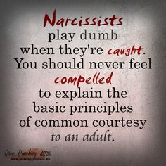 OMG, this is soooo true!   I used to try and explain how their behaviour and actions affect others, but N's don't care.  ~Caroline