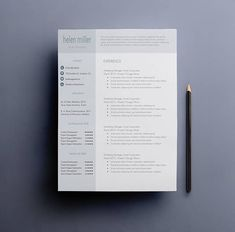 looking for professional resume and cover letter templates the helen miller design is for you the contact and skills bar is not only professional