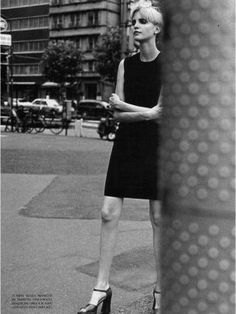 Nadja Auermann, Peter Lindbergh, Italian Vogue October 1996