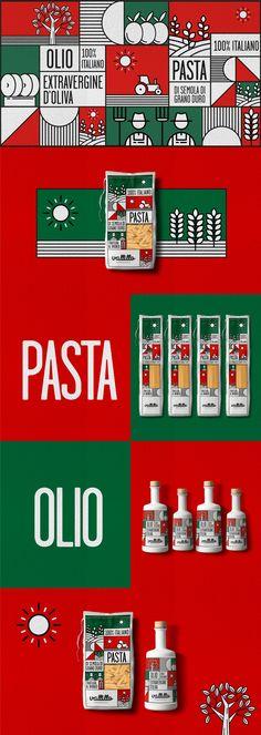 2018 / Pack design Vallillo / Pasta & Extra Virgin Olive Oil Made in Italy