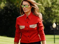 If there was anything as headline-grabbing in 2016 as the sparring between then-Presidential nominees Donald J. Trump and Hillary Clinton it was the role Melania Trump played as the potential First Lady. Not one to say very much Trump mostly let her style do the talking  and throughout the campaign trail editors deciphered her every fashion move assigning subliminal messages to colors and silhouettes and comparing her outfits to those of the First Ladies before her. But come Inauguration Day…