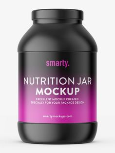Mockup of popular nutrition jar. Mockup is prepared with ability to paste your own label. Pharmacy, Mockup, Packaging Design, Room Ideas, Label, Nutrition, Jar, Bottle, Apothecary