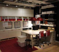 Work-station – Home Office Design Layout Interior Sketch, Interior Design, Office Space Design, Office Spaces, Ikea Office, Office Makeover, Office Interiors, Layout Design, Shelving