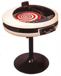 Weltron 60s record player. I don't know what I want more: the record player or the peppermint record!