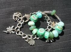 Selfmade bracelet with my own created lampwork beads