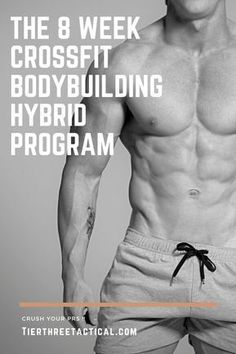 The Crossfit Bodybuilding Hybrid Program - Trend Fitness Aesthetic 2020 Hiit Workouts For Men, Workout Routine For Men, Gym Workout Videos, Weight Training Workouts, Crossfit Exercises, Crossfit Home Workouts, Daily Workouts, Body Weight Training, Fitness Body Men