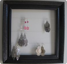 Framed Jewelry Wall Display Jewellery Storagejewellery Displayearring