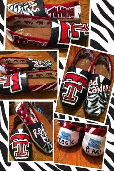 Texas Tech Custom Shoes  @Pamela Culligan Hichens