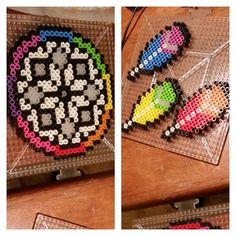 Dreamcatcher perler beads by drivingdaisycrazy