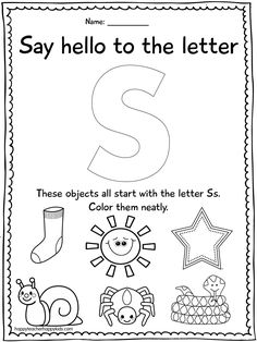 Alphabet activities for the letter S- perfect for preschool, transitional kindergarten, kindergarten, & RTI #kindergarten #alphabet #RTI