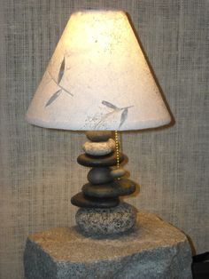 Maine Balance Offset Rock Lamp