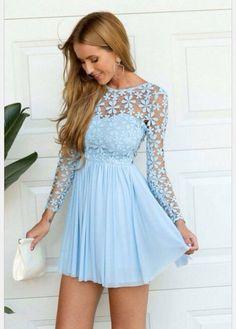 Image via We Heart It #bluedress #clothes #dress #hair #handbag #outfit