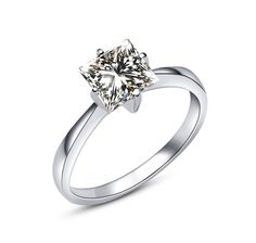 MIMI Zircon Sterling Silver Ring - 6mm Square Cut :http://mimimoreau.com/product/mimi-zircon-sterling-silver-ring-6/
