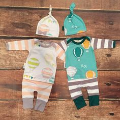 Airballoon Baby Boy Take Home Outfit with by SnugAsaBugClothes