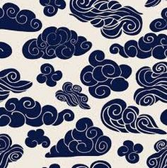 Cloud Drawing, Cloud Art, Clouds Pattern, Pattern Art, Japanese Cloud Tattoo, Tattoo Background, Japanese Illustration, Japanese Patterns, Chinese Patterns
