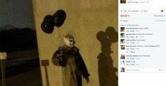 Nadie entiende lo que hacía este aterrador payaso con globos negros vagando por Wisconsin