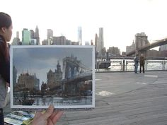 Chien Chung-Wei     plein air in Brooklyn Bridge.