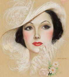 American Art ~ Charles Sheldon: Dolores Del Rio, 1934 Screenland Cover