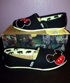 Disney Toms- Black version NO glitter on Etsy, $95.00
