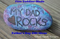 Five super-easy toddler-made Father's Day gift ideas...from Cobwebs, Cupcakes & Crayons.