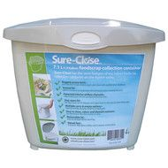 Sure-Close Kitchen Waste Collection Pail, Beige