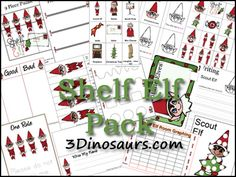 free Shelf Elf Printables from 3dinosaurs
