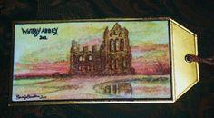 Whitby Abbey - Watercolour Tag
