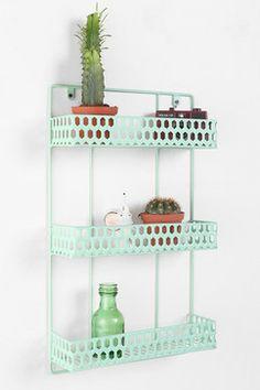 urban outfitters triple decker shelf   Triple Decker Shelf - Urban Outfitters eclectic wall shelves