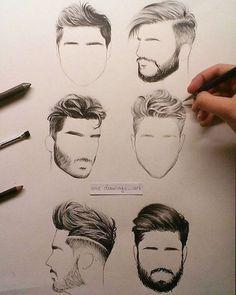 Hair styles for men. hair styles for men realistic drawings Pencil Art Drawings, Realistic Drawings, Art Drawings Sketches, Drawings Of Men, Hair Drawings, Guy Drawing, Drawing People, Figure Drawing, Ideas For Drawing